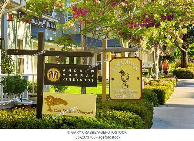 Downtown Los Olivos, Santa Barbara County, California