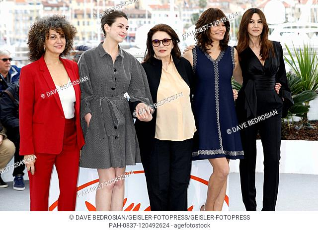 Souad Amidou, Tess Lauvergne, Anouk Aimee, Marianne Denicourt and Monica Bellucci at the 'Les plus belles années d'une vie / The Best Years of a Life' photocall...