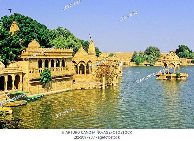 Gadisagar Lake, Jaisalmer, Rajasthan state, India