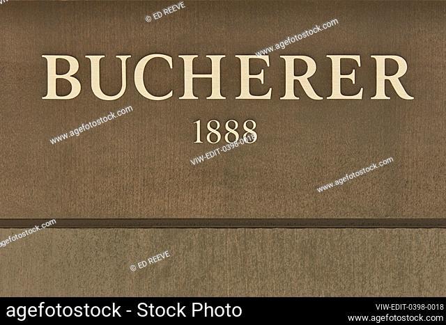 Company signature. Bucherer Westfield, London, United Kingdom. Architect: DULA, 2018