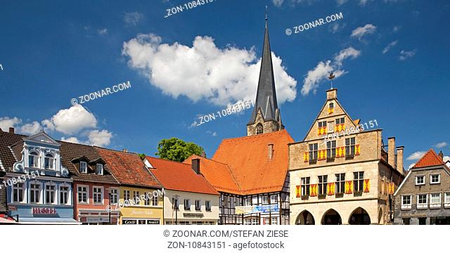 Historische Altstadt, Werne, Ruhrgebiet, Nordrhein-Westfalen, Deutschland, Europa