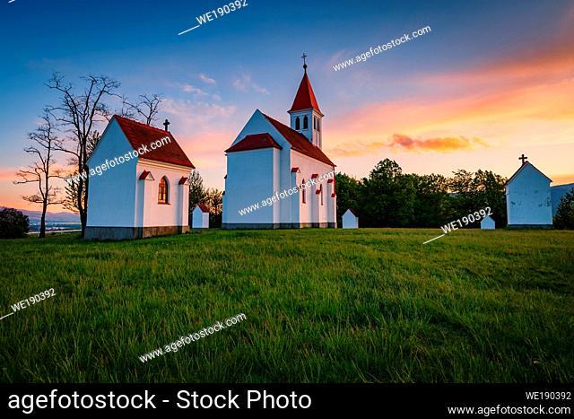 Neo-Gothic calvary near Nitrianske Pravno, Slovakia