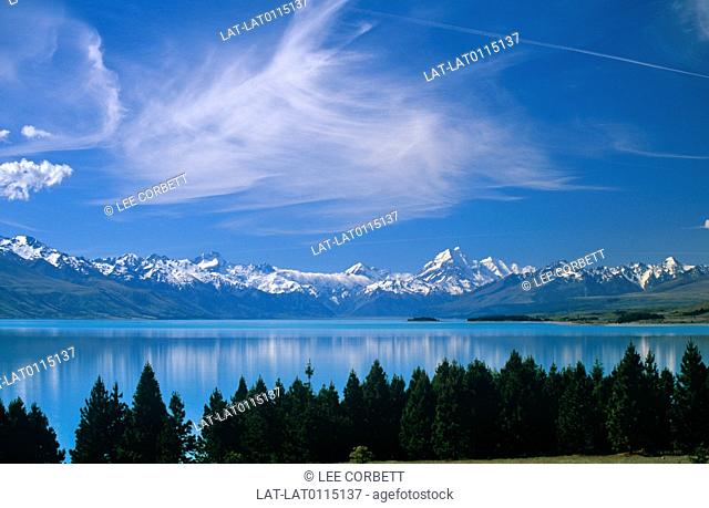 Lake Pukaki was formed by receding glaciers. It is one of three lakes that run allong the Mackenzie Basin. It is the glacial feed of the lakes that gives them...