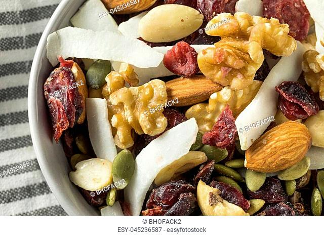 Healthy Homemade Superfood Trail Mix with Nuts and Fruit