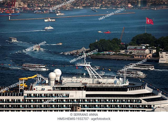 Turkey, Istanbul, Beyoglu, Tunel District, view from Galata Tower