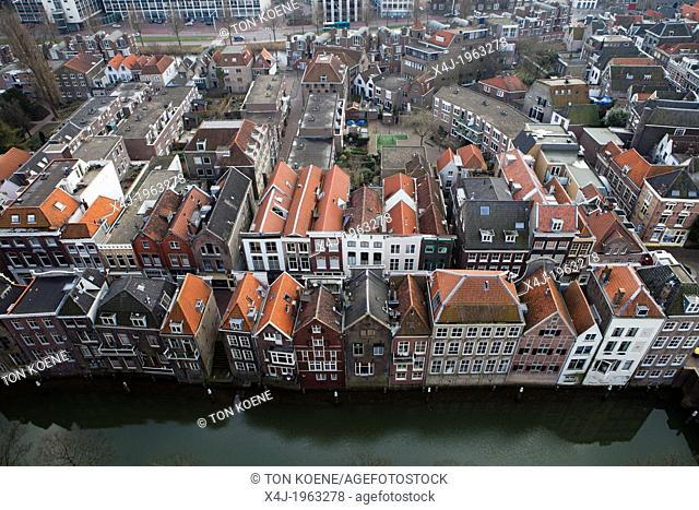 canal houses in Dordrecht, netherlands