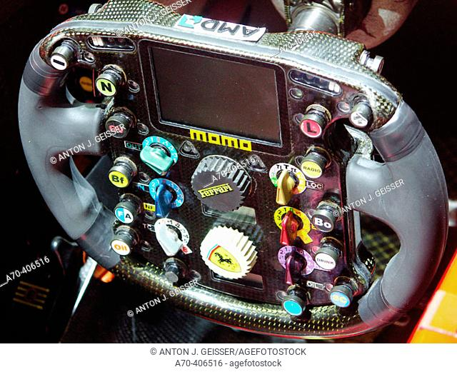 Ferrari F1 racing car cockpit