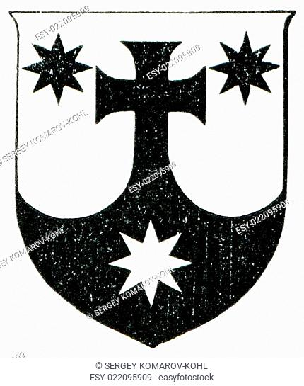 Coat of Arms Order of Discalced Carmelites. The Roman Catholic Church