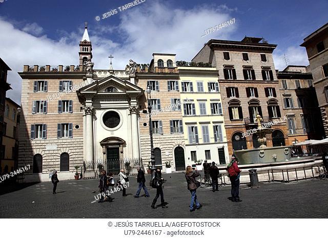 Santa Brigida church. Piazza Farnese. Rome. Italy