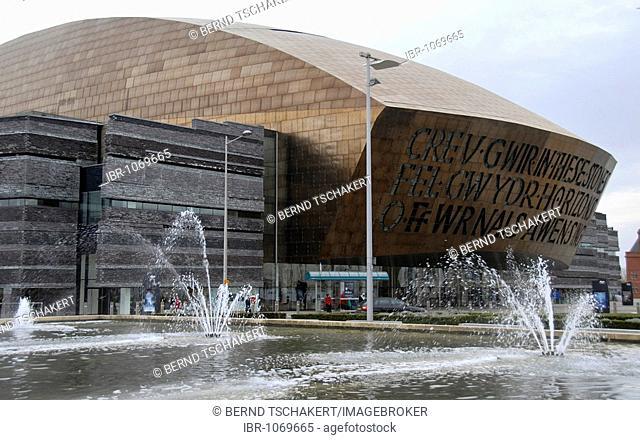 Millenium Centre, Canolfan Mileniwm Cymru, Cardiff Bay, Cardiff, Wales, Great Britain, Europe