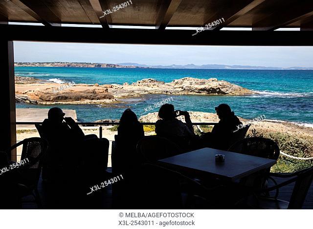 Es Calo de San Agusti, Formentera. Balearic islands, Spain