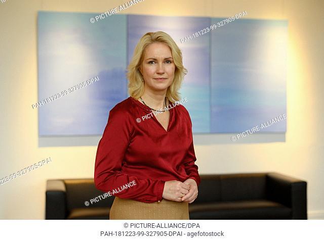 20 December 2018, Mecklenburg-Western Pomerania, Schwerin: Manuela Schwesig (SPD), Prime Minister of Mecklenburg-Western Pomerania