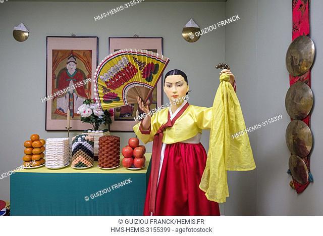 South Korea, Seoul, Jongno-gu district, National Folk Museum, exorcism ceremony