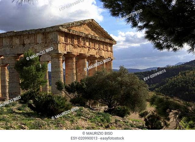 Segesta Greek temple in Sicily