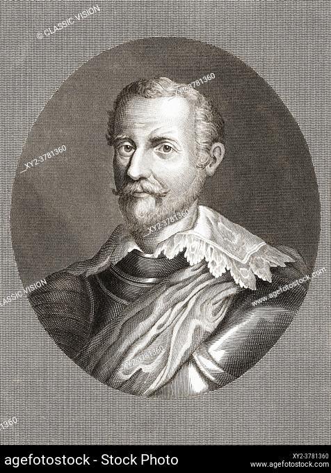 Francisco Verdugo, 1537 - 1595. Spanish military commander during the Dutch Revolt. After a work by Jan Reckleben