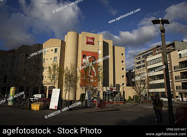 Illustration picture shows the hotel in the Meistraat, in the center of Antwerp, Sunday 11 April 2021. A man from Deurne died on Saturday night after a fall...