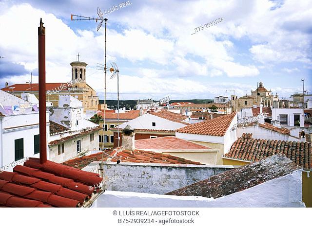 Townscape, Maho, Minorca, Balearic Islands, Spain