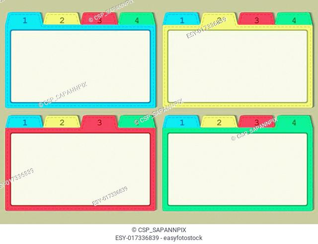 colorful papers templates