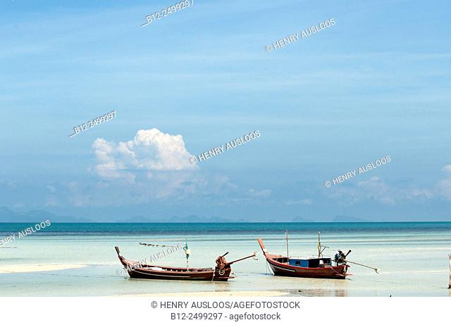 Thai fishing boats, Koh Samui, Thailand