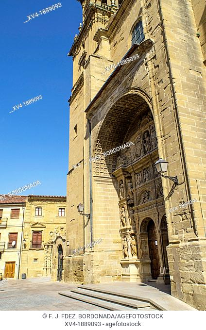 Santo Tomás of Haro church, Plateresque style 16th century Felipe de Vigarny, Haro, La Rioja, Spain