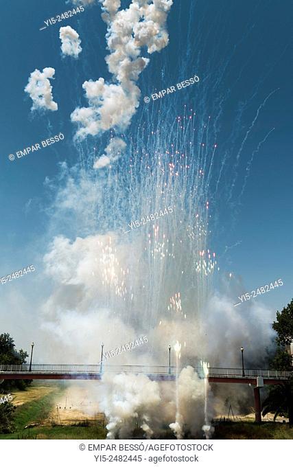 Fireworks. Mascletà. Valencia. spain