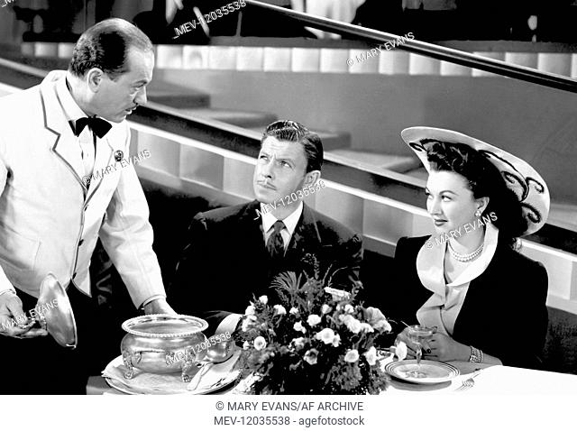 Jack Chefe, George Murphy & Ginny Simms Characters: Waiter (uncredited), Johnny Demming & Helen Hoyt Film: Broadway Rhythm (1949) Director: Roy Del Ruth 19...