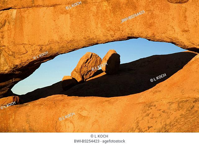 rocks formation of monolith Spitzkoppe in evening light, Namibia, Erongo