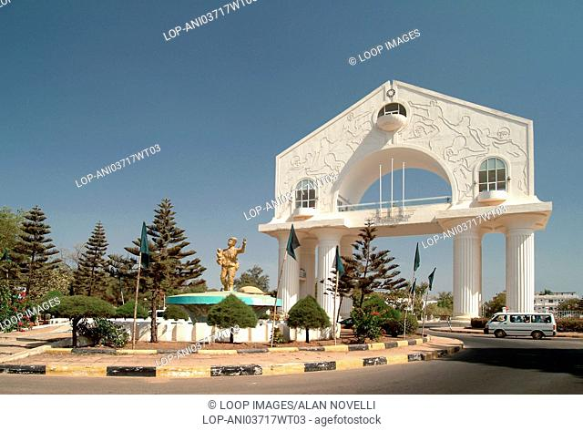 Arch 22 and statue of the unknown soldier in Banjul Town in The Gambia
