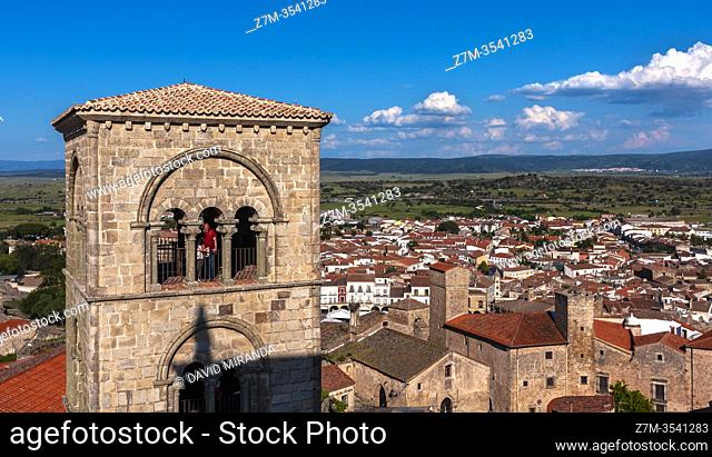 Torre campanario de la iglesia de Santa María la Mayor. Trujillo. Cáceres. Extremadura. España