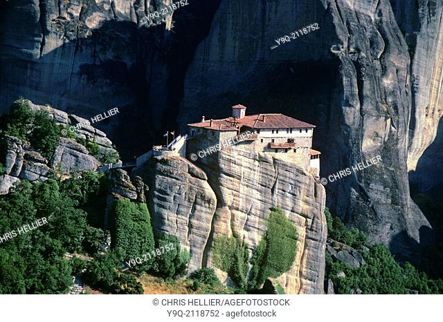 Holy Monastery of Roussanou (founded 1388) Meteora Greece