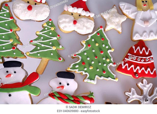 Decorated Angel Cookie For Christmas Stock Photos And Images Age