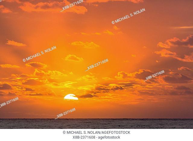 Sunrise near the island of Deserta Grande, Ilhas Desertas, Madeira, Portugal
