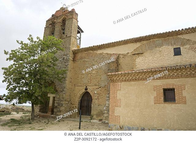 Ancient church at Otero de Sariegos ruined village in Villafafila Zamora Spain