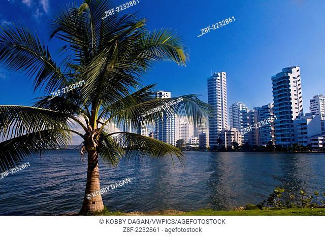 """View of """"""""Boca Grande"""""""" in """"""""Cartagena de indias"""""""" Colombia"""