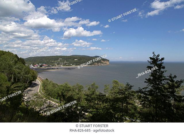 Coastline seen from Fundy National Park in New Brunswick, Canada, North America