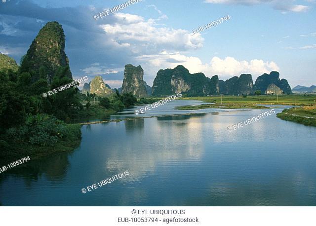 Limestone peaks seen from the River Li