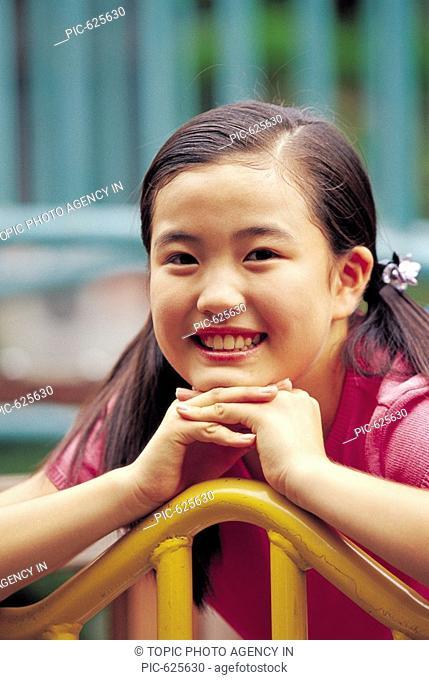 Portrait of Smiling Girl, Korea