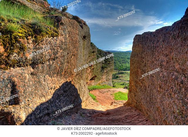 West Gate. Celtiberian and Roman Archaeological Site of Tiermes. Montejo de Tiermes. Soria Province. Castilla y Leon. Spain