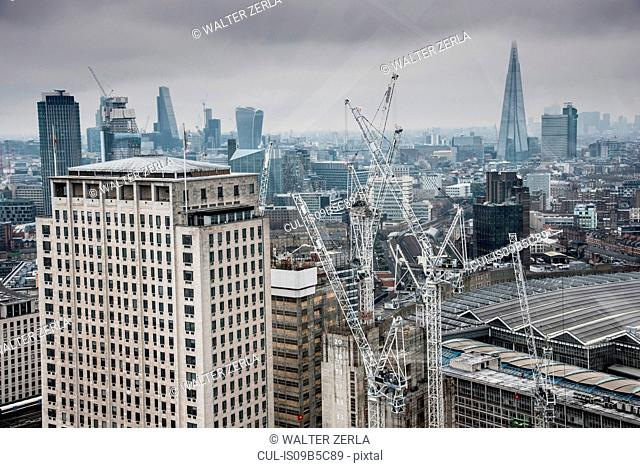 Cityscape of London, showing The Shard in the background, London, England