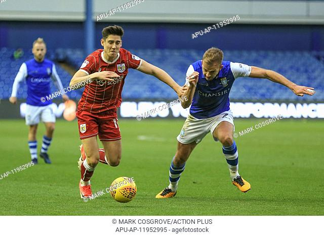 2017 EFL Championship Sheff Wed v Bristol City Nov 18th. 18th November 2017, Hillsborough, Sheffield, England; EFL Championship football