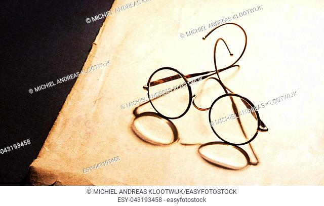 Vintage glasses isolated - Glasses from the early 20th century