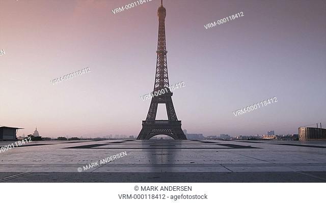 Eiffel tower at dawn