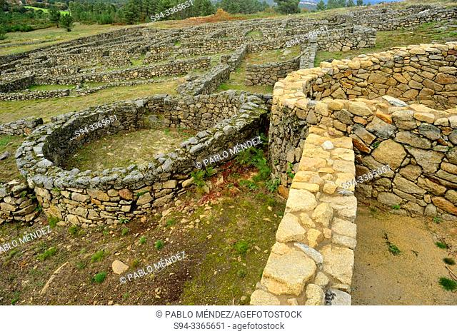 Fortified settlement of San Cibrao de Las, San Amaro county, Orense, Spain