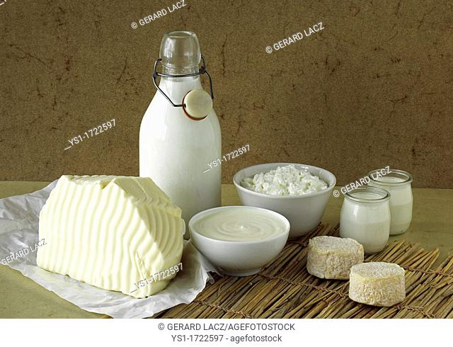 Milk Based Products, Milk, Double cream, Yoghurt, Soft cheese, Butter, Cheese