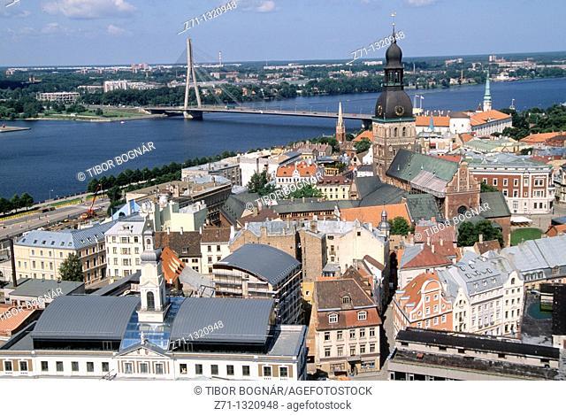 Latvia, Riga, general aerial view