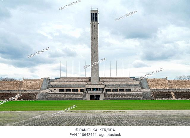 Germany: Bell Tower of Berlin Olympic Stadium..Photo from 17. March 2019. | usage worldwide. - Berlin/Berlin/Germany