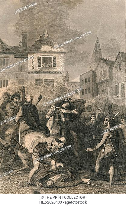 The Death of Wat Tyler, 1381, (19th century). Artist: Unknown