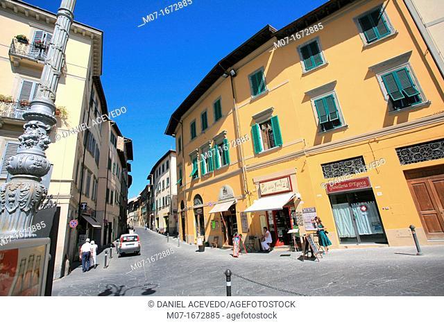 Cavour Street, Arezzo, Tuscany, Italy