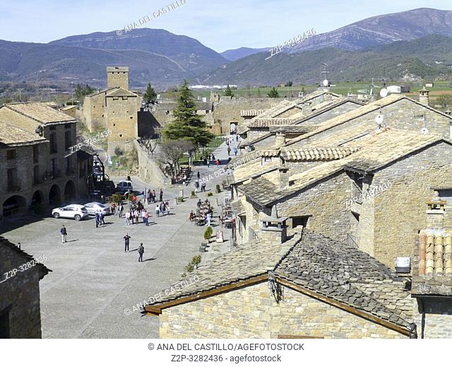 AINSA SPAIN ON MARCH 16, 2019: Ainsa is one of the Most Beautiful Villages to Visit in Aragón, Spain
