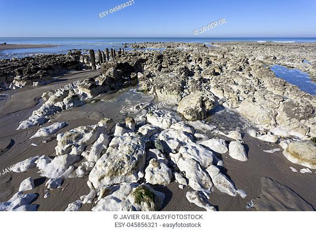 Beach of Ault, Somme, Hauts-de-France, France